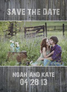 barn wood photo save the date