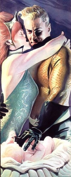 Aquaman and Mera from JLA: Liberty and Jusice by Alex Ross