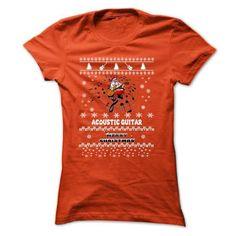 Acoustic Guitar In Christmas Special Tee. - #tshirt #oversized sweatshirt. ORDER HERE => https://www.sunfrog.com/Music/Acoustic-Guitar-In-Christmas-Special-Tee-Orange-8437968-Ladies.html?68278