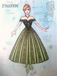 Disney On Ice Frozen, Ana Frozen, Disney Princess Costumes, Disney Costumes, Frozen Musical, Costume Design Sketch, Broadway Costumes, Frozen Costume, Princess Aesthetic