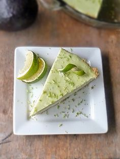 Avocado Lime Cheesecake Recipe | by Life Tastes Good is da bomb! Trust me on this one! I was skeptical too! I mean I LOVE avocados, but in a cheesecake? Come on! That's just weird!! Or is it? #Dessert #Pie #CincodeMayo