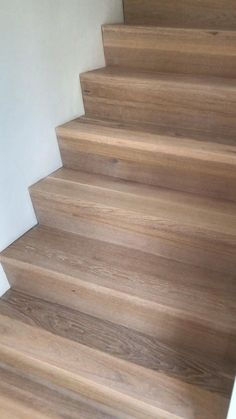 Laminate Flooring On Stairs, Tile Stairs, Hardwood Stairs, Concrete Stairs, Stair Walls, Wood Like Tile, Wood Stair Treads, Stair Renovation, Stairs In Living Room
