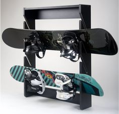 Snowboard Rack, 4 Slot, Wall Mount, Midnight Design Trick...