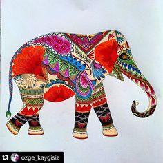 #ShareIG Estou apaixonada por esse elefante indiano em tons vibrantes