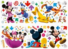 Mickey Mouse Playhouse: {free} party printables. Right click and save as Mickey Mouse Playhouse, Mickey Mouse House, Mickey Mouse Bedroom, Mickey Mouse Parties, Disney Mickey Mouse, Gateau Mickey Mouse, Mickey Party Decorations, Fiesta Mickey, Oh My Fiesta