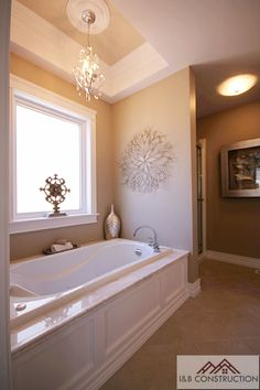 Master Bathroom- I do love a chandelier... and this one is great! I'm thinking that would be a perfect touch in my bathroom!