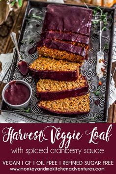 Brimming with feel-good ingredients, the perfect blend of Thanksgiving spices, and hearty texture, this comforting Harvest Veggie Loaf will. Fall Recipes, Holiday Recipes, Whole Food Recipes, Christmas Recipes, Entree Vegan, Veggie Loaf, Meat Loaf, Vegan Thanksgiving, Thanksgiving Table