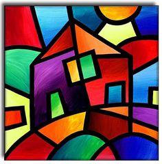 Trendy cubism art for kids oil pastels ideas<br> Oil Pastel Paintings, Pastel Art, Oil Pastels, Art Paintings, Cubist Art, Frida Art, Art Drawings For Kids, Diy Canvas Art, Whimsical Art