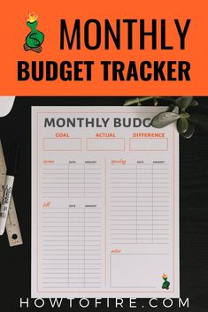 Monthly Budget Tracker Budgeting Income Bills Expenses Customizable Printable - by HowToFIRE Budgeting Finances, Budgeting Tips, Ways To Save Money, Money Saving Tips, Saving Ideas, Managing Money, Money Tips, Financial Planning For Couples, Budgeting Worksheets