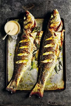 What really works in this is the mayonnaise that's flavoured with fennel herb as well as a splash of pastis and some chopped chives. John Dory, James Murphy, Red Mullet, Rick Stein, Mayonnaise Recipe, Indoor Grill, White Wine Vinegar, Sea Bass