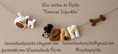 Las cositas de Pepita: Nombres De Fieltro
