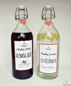 etykietki na alkohole weselne