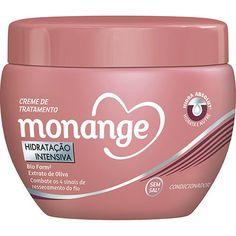 """""""Creme de cabelo da Monange, embalagem rosa. Maravilhoso pra cabelos com frizz e ressecados como o meu. Além de ser baratinho!"""" – Larissa SouzaAqui por R$ 5,49."""