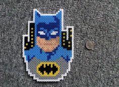 Long Black Fingers : Batman & Superman Perler Beads