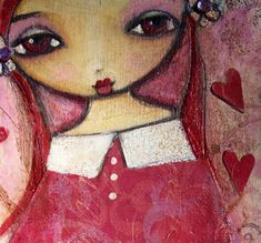 Suzi Blu drawing & painting. Love the big eyes