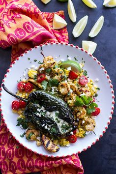 This meal is almost too pretty to eat. Blow your guests away with this Grilled Chiles Rellenos with Chipotle Peach Mojo Shrimp recipe. Best Shrimp Recipes, Seafood Recipes, Mexican Food Recipes, Healthy Recipes, Ethnic Recipes, Healthy Meals, Healthy Food, Healthy Eating, Shellfish Recipes