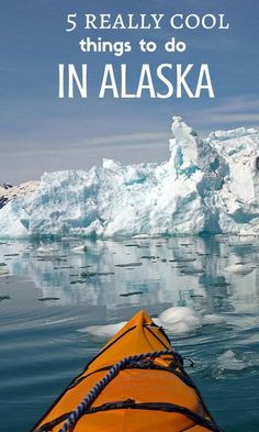 5 really cool things to do in Alaska that mostly involve glaciers. Oh, there's a little bear watching included, too. You'll discover lots of Alaska travel adventure ideas in this article.