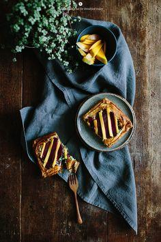 Ciasto francuskie z burakiem i mango / Marta Greber