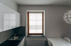 Black STAR strip mini roller blind by MOTIVO. Simple and beautiful.