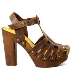 Zoccoli Donna da Mare a Ragnetto con Plateau Shoes, Sandali Alti in Simil Legno. Calzature Made in Italy by KikkiLine.