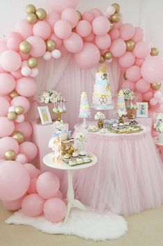 Princess Birthday Party Decorations, Disney Princess Birthday Party, 1st Birthday Party For Girls, Princess Theme Party, 12 Birthday Ideas, Disney Princess Decorations, Girls Party Decorations, Birthday Photos, 5th Birthday