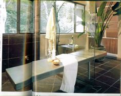 Featured in bathroom trends magazine this view of the master bath