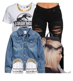 """""""@JazIsComplex"""" by jaziscomplex ❤ liked on Polyvore featuring New Look, Herschel, Harrods, H&M and Converse"""