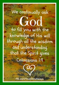 To know God's will -- saves us a lot of heartaches: Study and obey God's word.