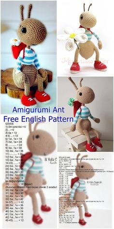 plus Amigurumi Ant Free Häkelanleitung – Crochet.plus Amigurumi Ant Free Crochet Pattern – Crochet.plus Source by rcanpacheco amigurumi amigurumipattern Ant Crochet Crochetmsaplus Free hak Easter Crochet Patterns, Crochet Patterns Amigurumi, Crochet Dolls, Crochet Afghans, Amigurumi Doll, Cute Crochet, Crochet Crafts, Crochet Projects, Modern Crochet