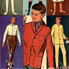 Doll Clothing PATTERN for Ken Barbie's Boy Friend Allen Alan 12 inch fashion dolls from the Barbie Family by Mattel 60s PDF file emailed 2U by BlondiesSpot on Etsy