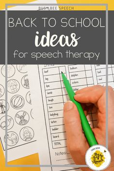 Speech Therapy Back-to-School Ideas  - All my favorite activities I use at the beginning of the year.