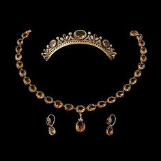 From Bukowskis Vintage auction Fall 2013: A 19th Century Citrine Set with Tiara