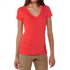 V-neck of this seemingly simple cotton tee has a subtle, graceful curve that falls more like a necklace than a neckline. Made from an organic cotton/Tencel lyocell blend in a textured slub knit that gently lifts the fabric away from the skin Organic Clothing Brands, Simple Shirts, Sustainable Clothing, Cotton Tee, Organic Cotton, V Neck, Tees, Skirts, Patagonia Sale