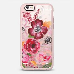 Floral Love Transparent - New Standard iPhone 6 phone case in Pink Gray and Clear by Bethany Joy #phonecase #protective #floral #floralprint | @casetify