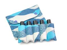 Essential Oil Pouch, Essential Oil Roller Bottles Bag, Essential Oil Bag, Essential Oil Case, Essential Oil Storage, Blue waves