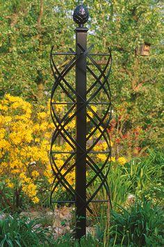 Metal sculpture garden obelisk