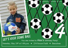 Soccer Party Invitation - Soccer Birthday Invitation - Bday Sports Invite - Printable Party - Soccer Invitation by Ilona's Design