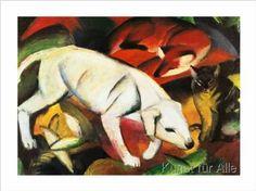 Franz Marc - A dog, a fox and a cat