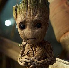 When I look at Baby Groot I see myself at the age of five. And considering the fucked up family I grew up in - it's no wonder I went from being Baby Groot to Rocket Raccoon. *Sigh* - at least my Baby Groot self managed to survive in there somewhere. Marvel Dc Comics, Marvel Avengers, Marvel Heroes, Groot Avengers, Baby Marvel, Marvel News, Baby Groot, Gardians Of The Galaxy, Guardians Of The Galaxy Vol 2