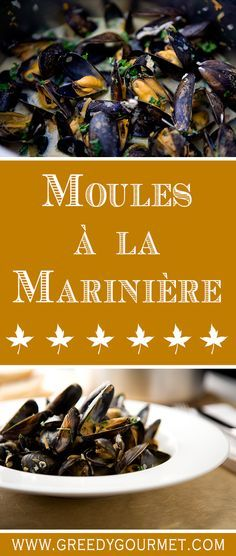 Moules à la Marinière - You can't get any more French than this!