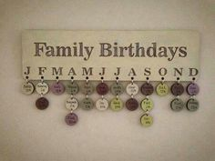 Never forget a birthday again! Love this idea!