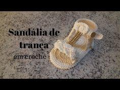 Sandália de Trança em crochê - YouTube Crochet Squares, Crochet Stitches, Knit Crochet, Crochet Baby Shoes, Crochet Slippers, Baby Girl Shoes, Kid Shoes, Knitting Patterns, Crochet Patterns