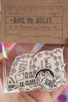 These Temporary Tattoos Act As Positive Reminders For Anxiety Sufferers