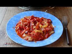 Cea mai usor de facut mancare de ardei cu ceapa si rosii Hawaiian Pizza, Cabbage, Vegetables, Recipes, Food, Red Peppers, Recipies, Essen, Cabbages