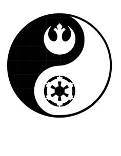 Star Wars YING YANG Sticker Vinyl Decal Car Laptop Window Oracal rebel empire #FunfareDecals