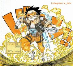 ONEPIECE [X] OVERWATCH  Monkey.D.Luffy [X] Tracer _Remake  #onepiece #overwatch #collaboration #luffy #tracer #원피스 #오버워치 #hsb #한석범