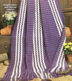 Easy Beginner Crochet Crocheting Pattern for an IRIS MELODY AFGHAN Blanket Throw