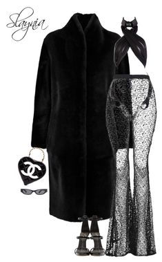 """""""Major Cher Looks"""" by slaynia ❤ liked on Polyvore featuring Iris & Ink, The Ragged Priest, Giuseppe Zanotti, Acne Studios and Chanel"""