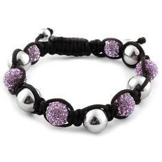 Liquidation Channel   Purple Austrian Crystal and Hematite Tranquility Bracelet