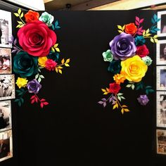 Best 12 Paper Flower Photo Wall by MIO GALLERY Paper Flowers are gorgeously large, make you want to walk up and see them up close, and they never die. What a pretty world to live in, right? This paper flower set of 20 Unique Large Paper Flowers + 16 paper Mexican Birthday Parties, Mexican Fiesta Party, Fiesta Theme Party, Mexican Party Decorations, Mexican Babies, Large Paper Flowers, Mexican Paper Flowers, Diy Flowers, Bright Flowers